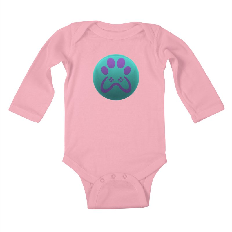 Controller Paw Logo Kids Baby Longsleeve Bodysuit by Respawnd Event's Merch Store