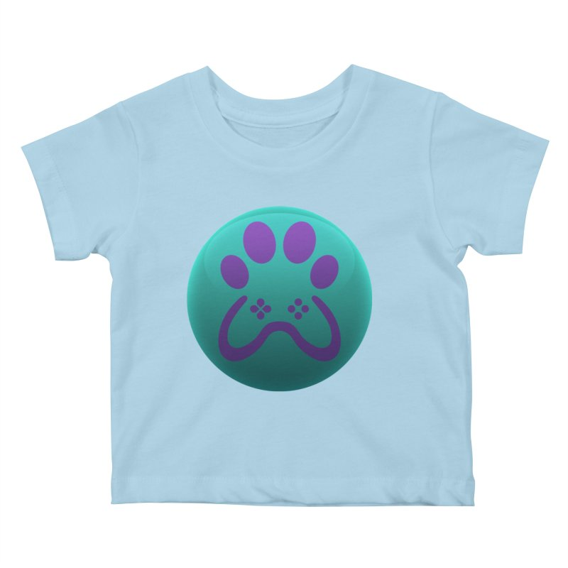 Controller Paw Logo Kids Baby T-Shirt by Respawnd Event's Merch Store