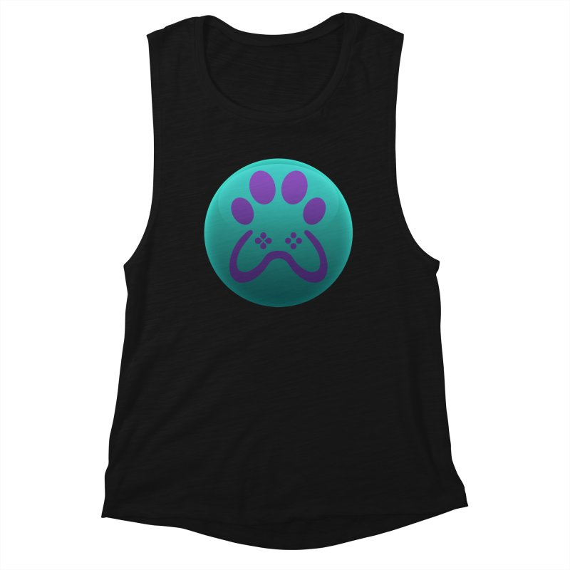 Controller Paw Logo Women's Muscle Tank by Respawnd Event's Merch Store