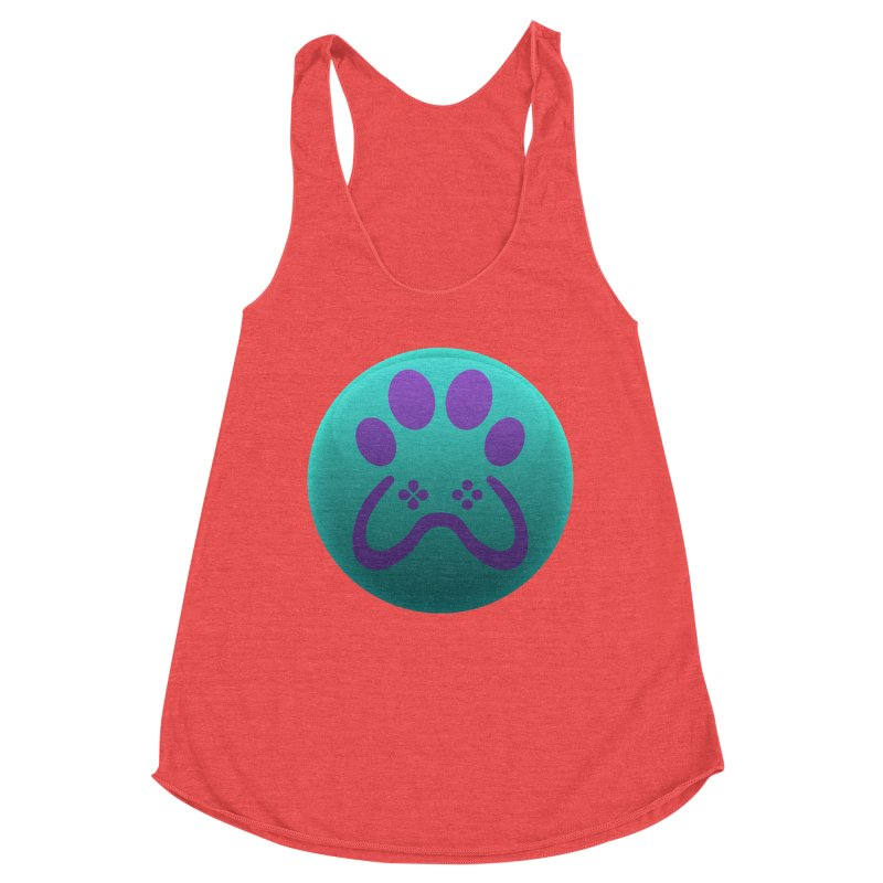 Controller Paw Logo Women's Racerback Triblend Tank by Respawnd Event's Merch Store