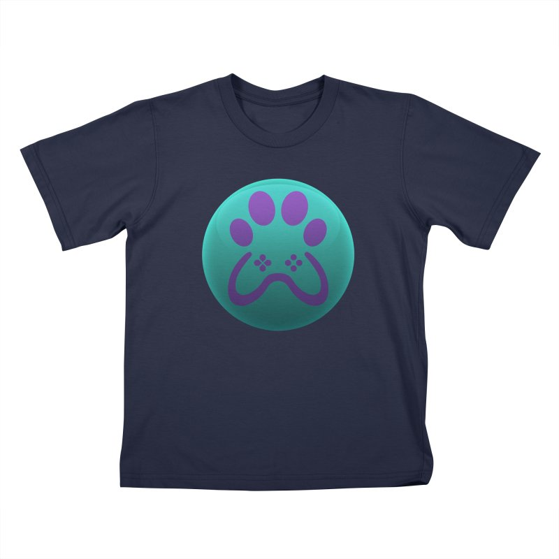 Controller Paw Logo Kids T-Shirt by Respawnd Event's Merch Store