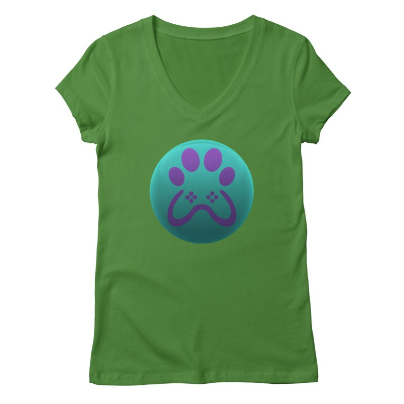 Controller Paw Logo Women's Regular V-Neck by Respawnd Event's Merch Store