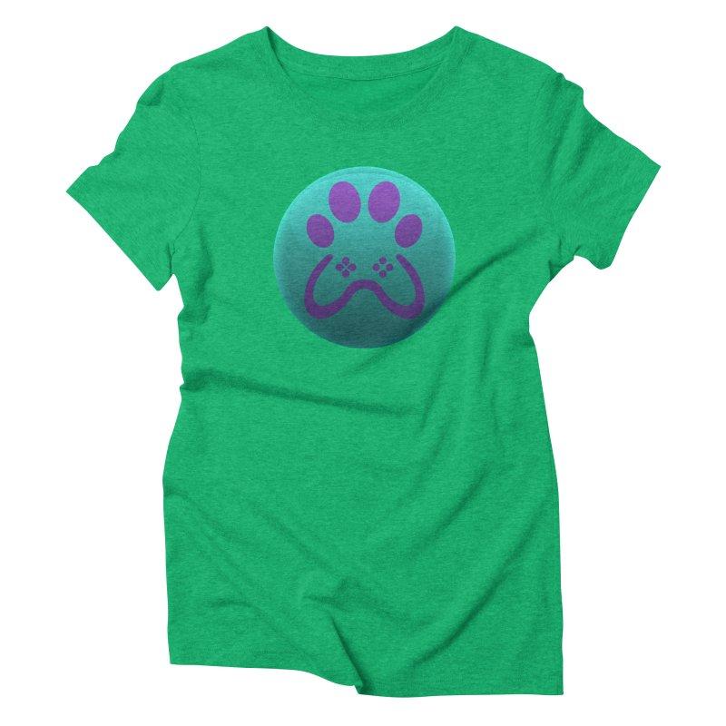 Controller Paw Logo Women's Triblend T-Shirt by Respawnd Event's Merch Store
