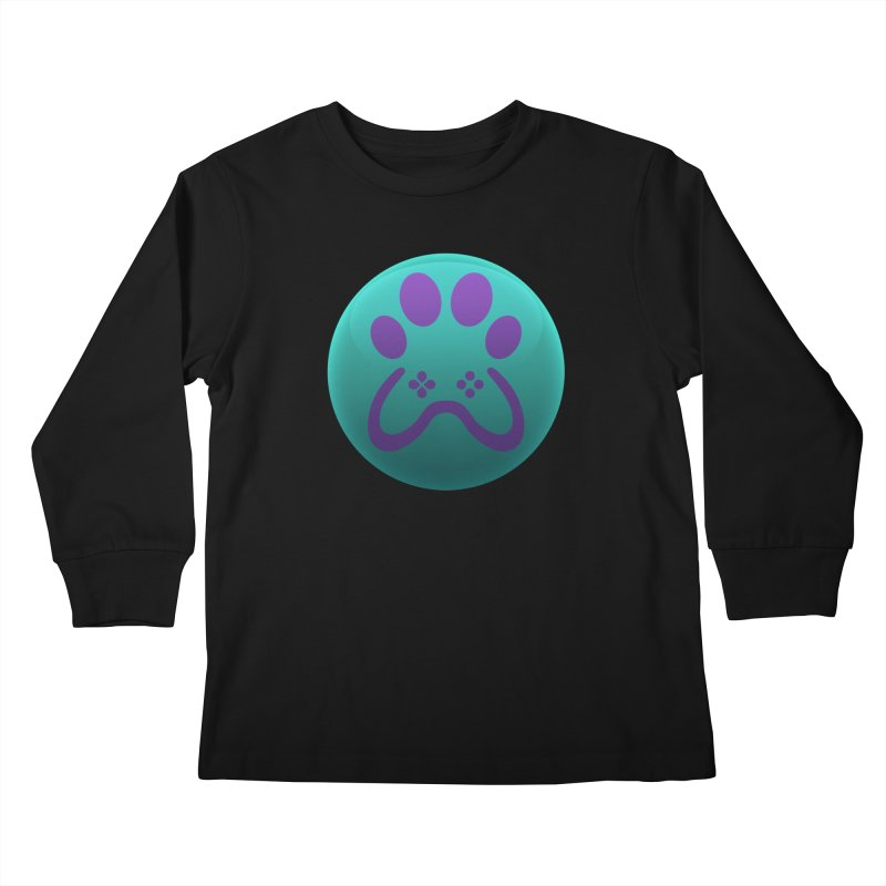 Controller Paw Logo Kids Longsleeve T-Shirt by Respawnd Event's Merch Store