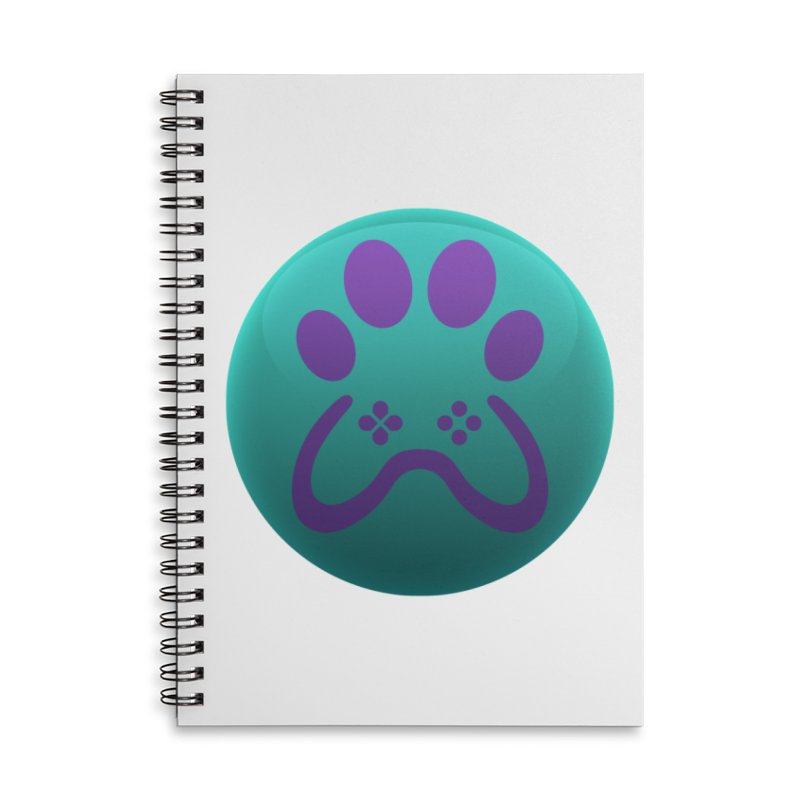 Controller Paw Logo Accessories Lined Spiral Notebook by Respawnd Event's Merch Store