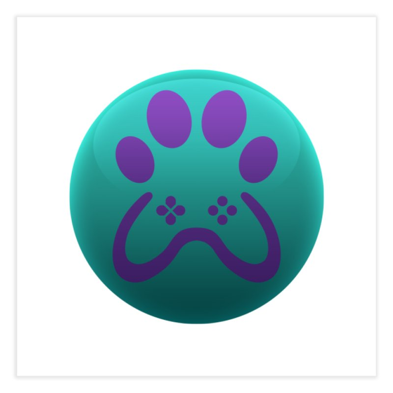 Controller Paw Logo Home Fine Art Print by Respawnd Event's Merch Store
