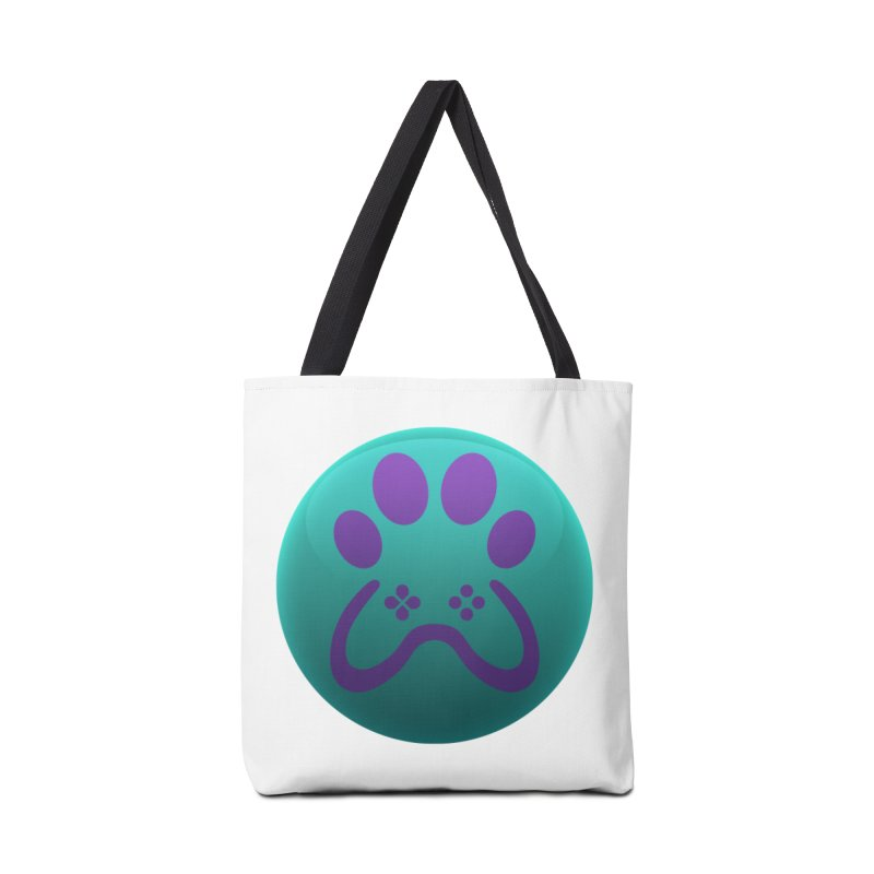 Controller Paw Logo Accessories Tote Bag Bag by Respawnd Event's Merch Store