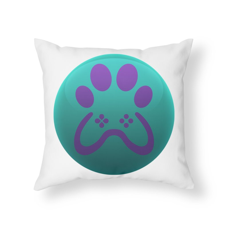 Controller Paw Logo Home Throw Pillow by Respawnd Event's Merch Store
