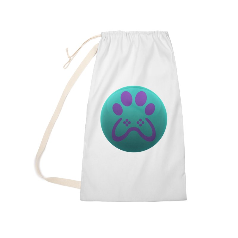 Controller Paw Logo Accessories Laundry Bag Bag by Respawnd Event's Merch Store