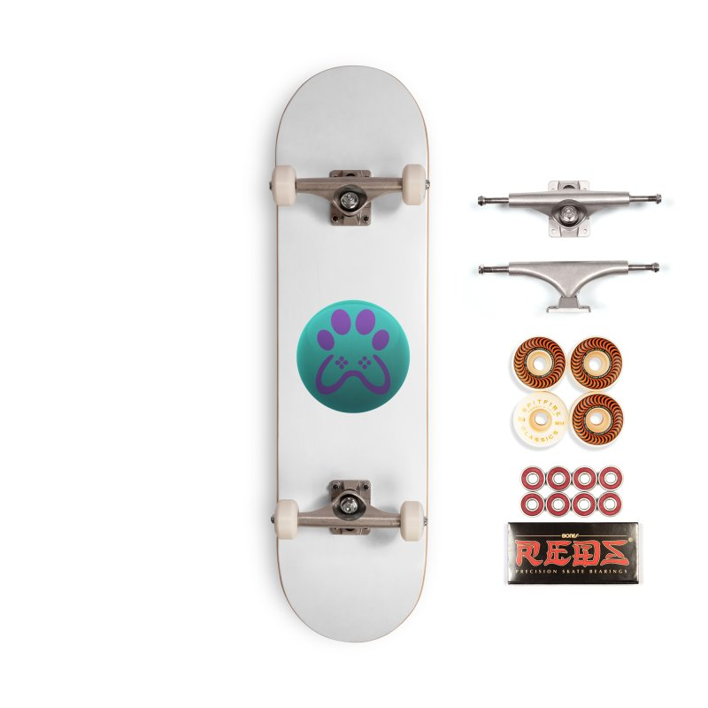 Controller Paw Logo Accessories Skateboard by Respawnd Event's Merch Store