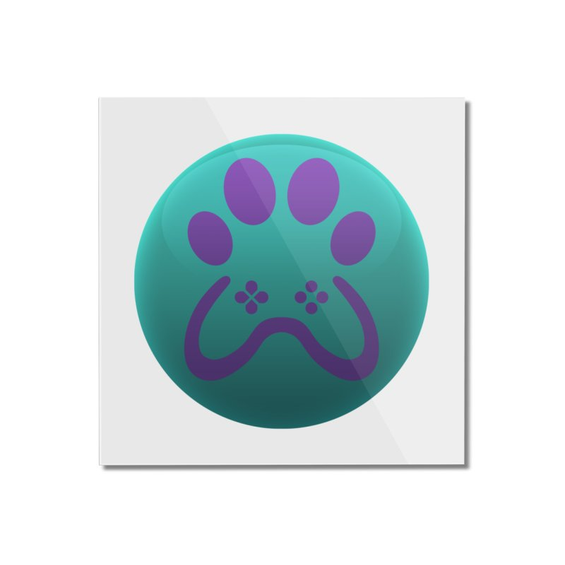 Controller Paw Logo Home Mounted Acrylic Print by Respawnd Event's Merch Store