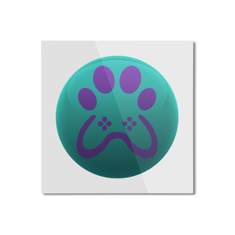 Controller Paw Logo Home Mounted Aluminum Print by Respawnd Event's Merch Store