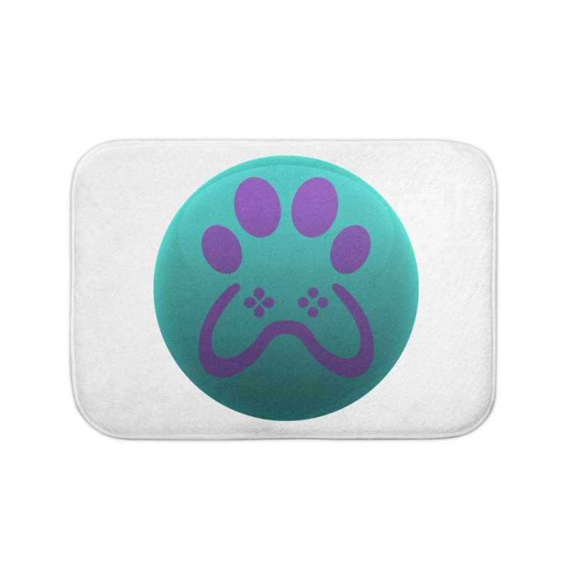 Controller Paw Logo Home Bath Mat by Respawnd Event's Merch Store
