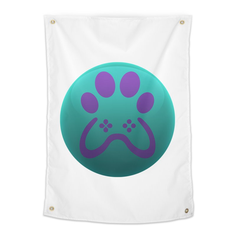 Controller Paw Logo Home Tapestry by Respawnd Event's Merch Store
