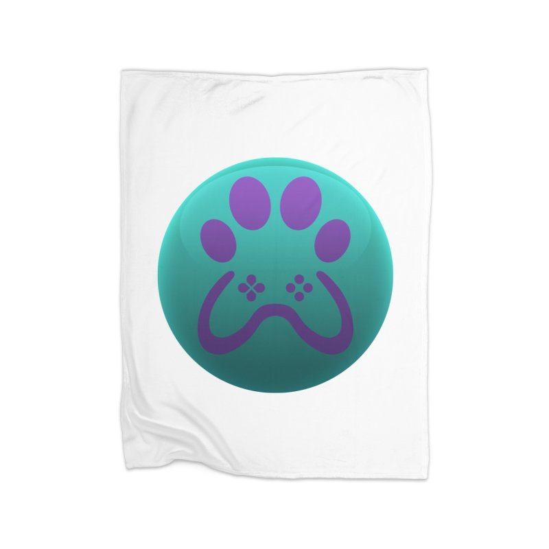 Controller Paw Logo Home Fleece Blanket Blanket by Respawnd Event's Merch Store