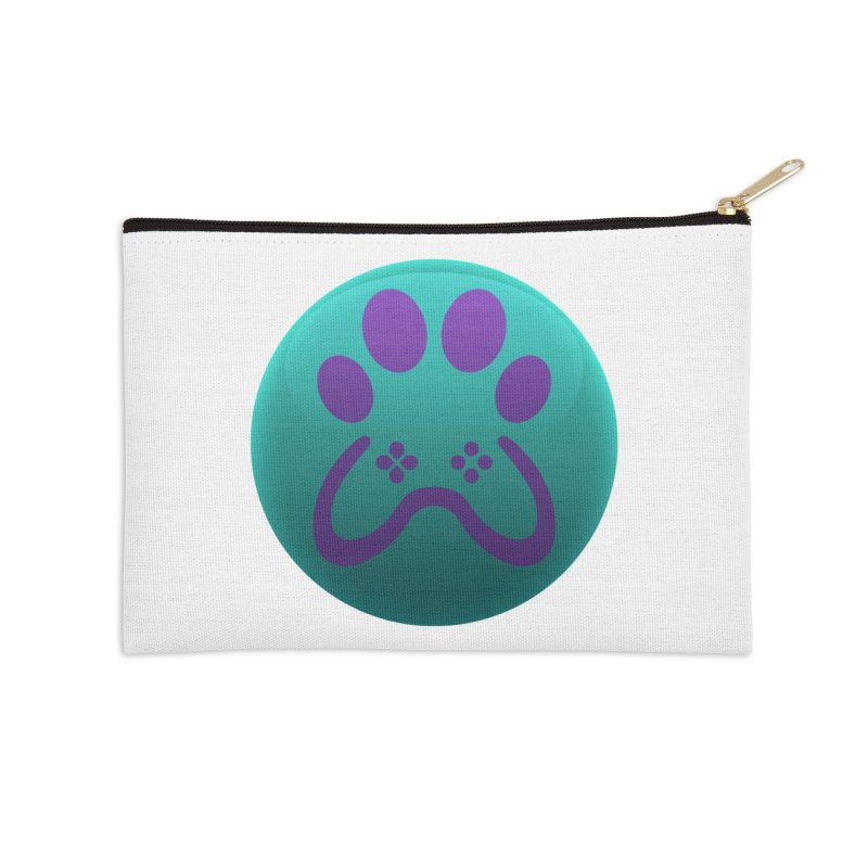 Controller Paw Logo Accessories Zip Pouch by Respawnd Event's Merch Store