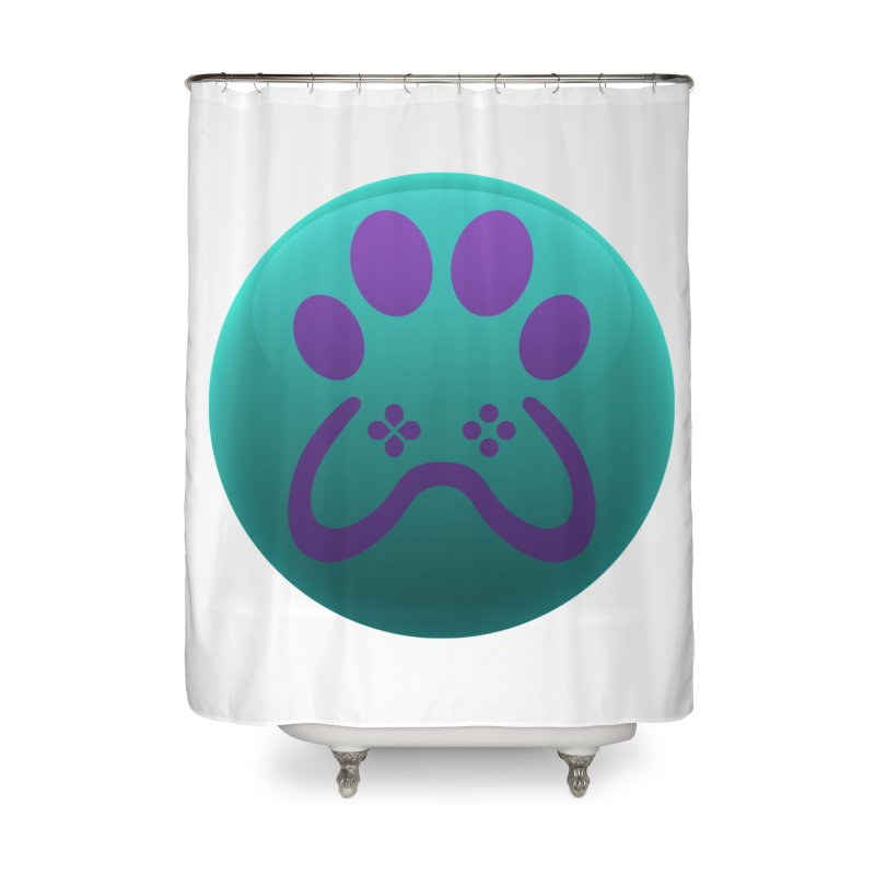 Controller Paw Logo Home Shower Curtain by Respawnd Event's Merch Store
