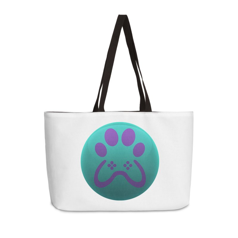 Controller Paw Logo Accessories Weekender Bag Bag by Respawnd Event's Merch Store