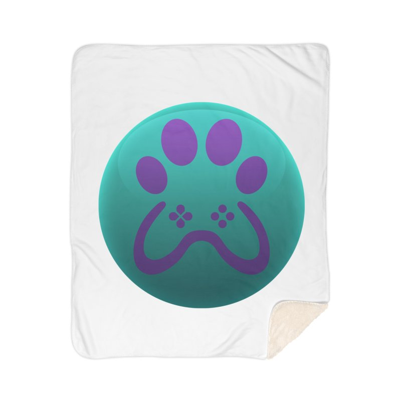 Controller Paw Logo Home Sherpa Blanket Blanket by Respawnd Event's Merch Store