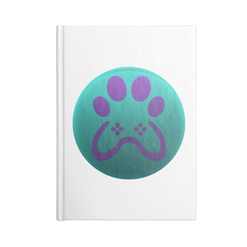 Controller Paw Logo Accessories Lined Journal Notebook by Respawnd Event's Merch Store