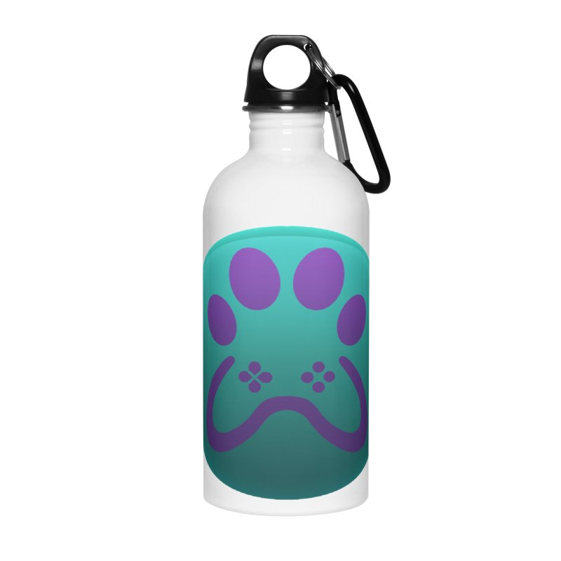 Controller Paw Logo Accessories Water Bottle by Respawnd Event's Merch Store