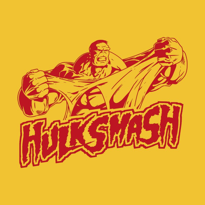 Hulk Smash - Hulkamaniac Men's T-Shirt by RetroReview's Artist Shop