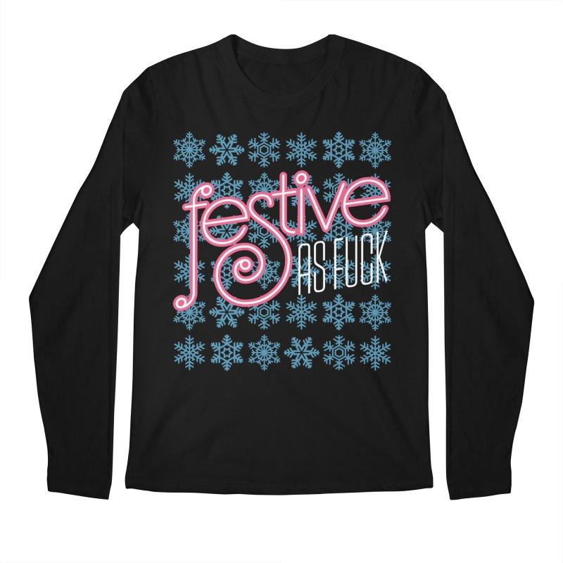 Festive As Fuck Men's Longsleeve T-Shirt by retrorocket's Artist Shop