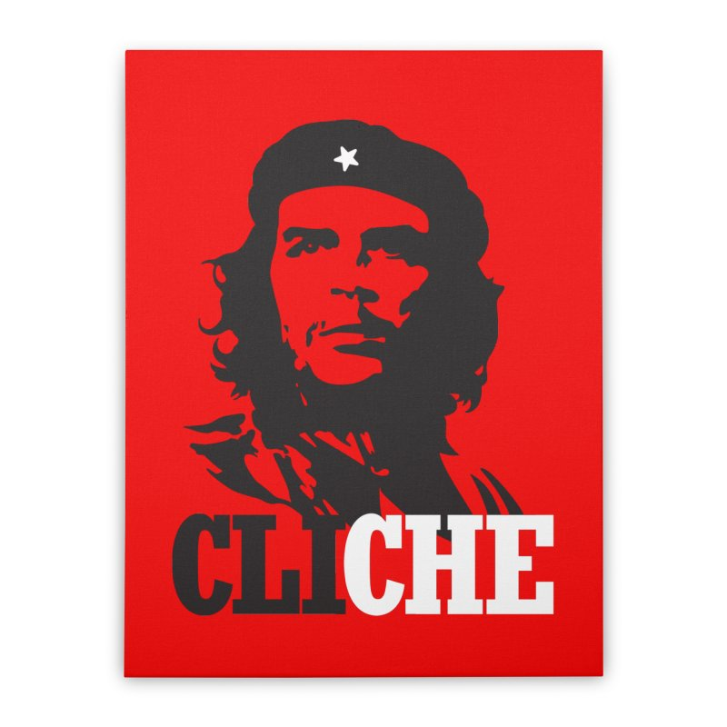 Cliche Home Stretched Canvas by retrorocket's Artist Shop