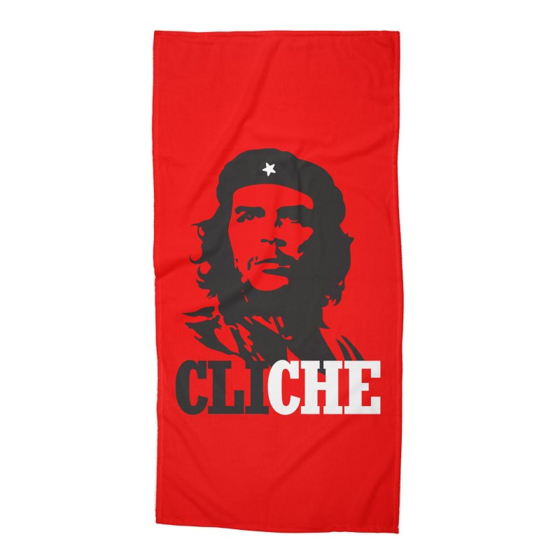 Cliche Accessories Beach Towel by retrorocket's Artist Shop