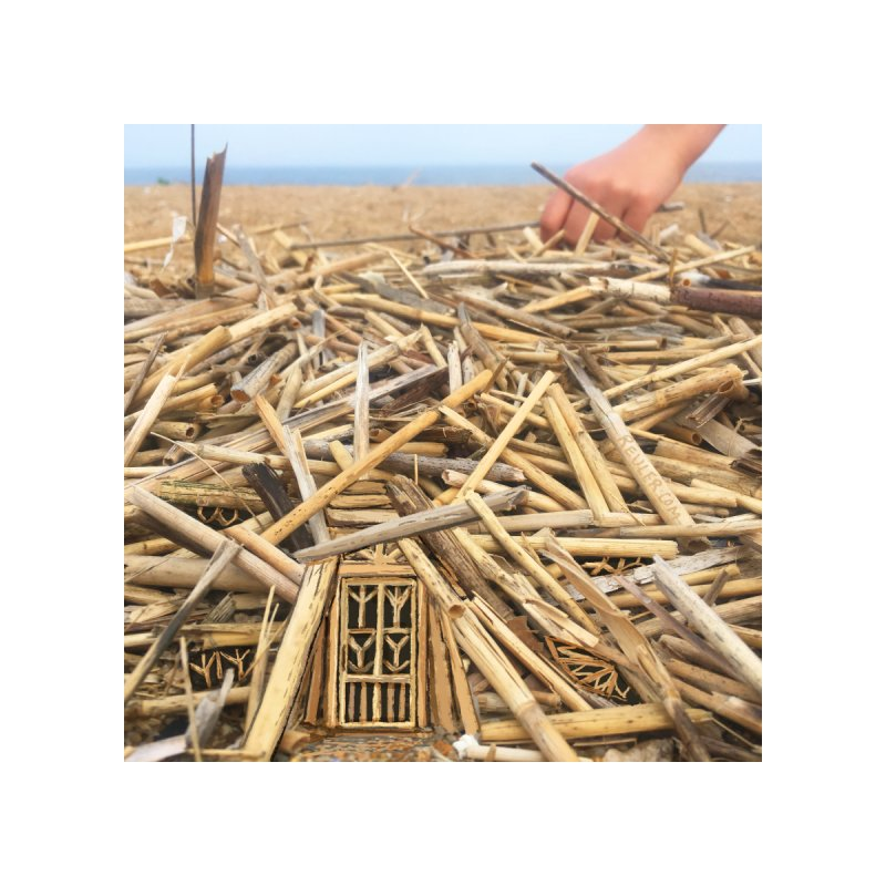 Straw House Home Fine Art Print by 100 Days of Drawing on Photos