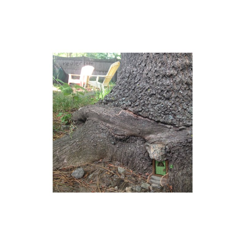 Tree Trunk House Home Fine Art Print by 100 Days of Drawing on Photos