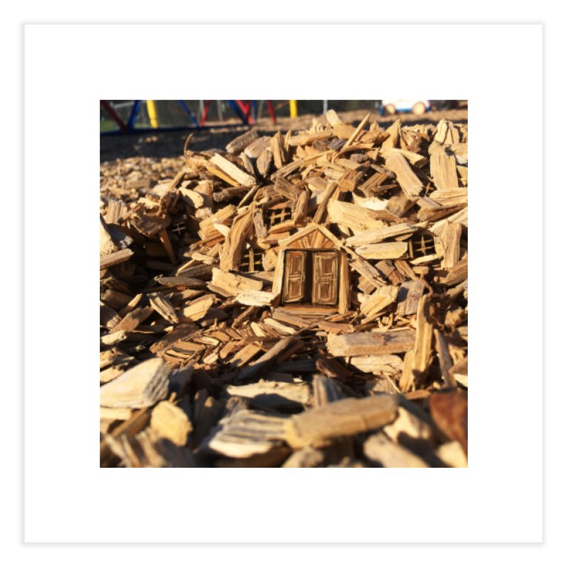Woodchip Fort Home Fine Art Print by 100 Days of Drawing on Photos