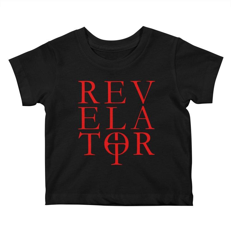 Red Logo Tee Kids Baby T-Shirt by Revelator Merch Shop