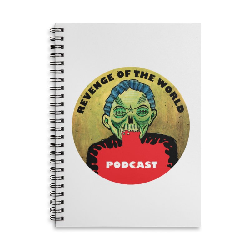 ROTW Podcast Accessories Lined Spiral Notebook by Gabriel Dieter's Artist Shop