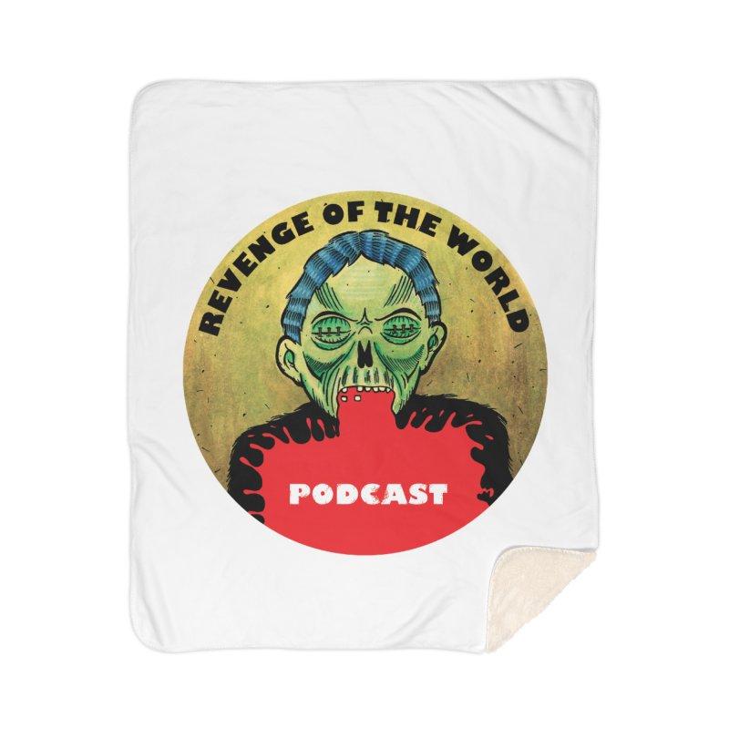 ROTW Podcast Home Sherpa Blanket Blanket by Gabriel Dieter's Artist Shop