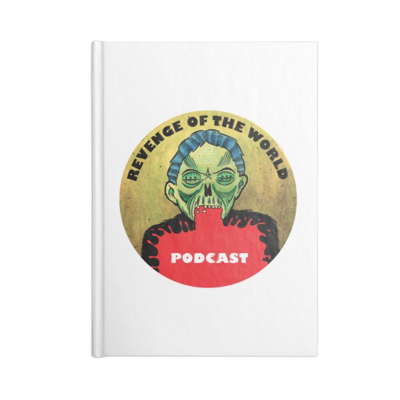 ROTW Podcast Accessories Lined Journal Notebook by Gabriel Dieter's Artist Shop