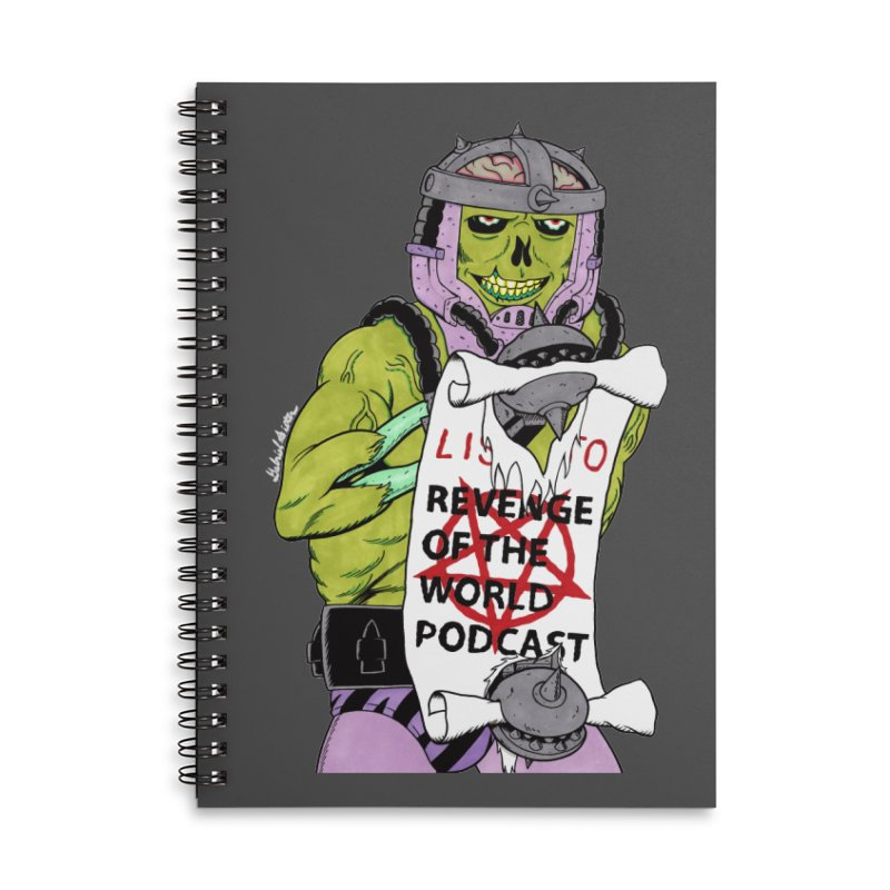 ROTW Summons Accessories Lined Spiral Notebook by Gabriel Dieter's Artist Shop