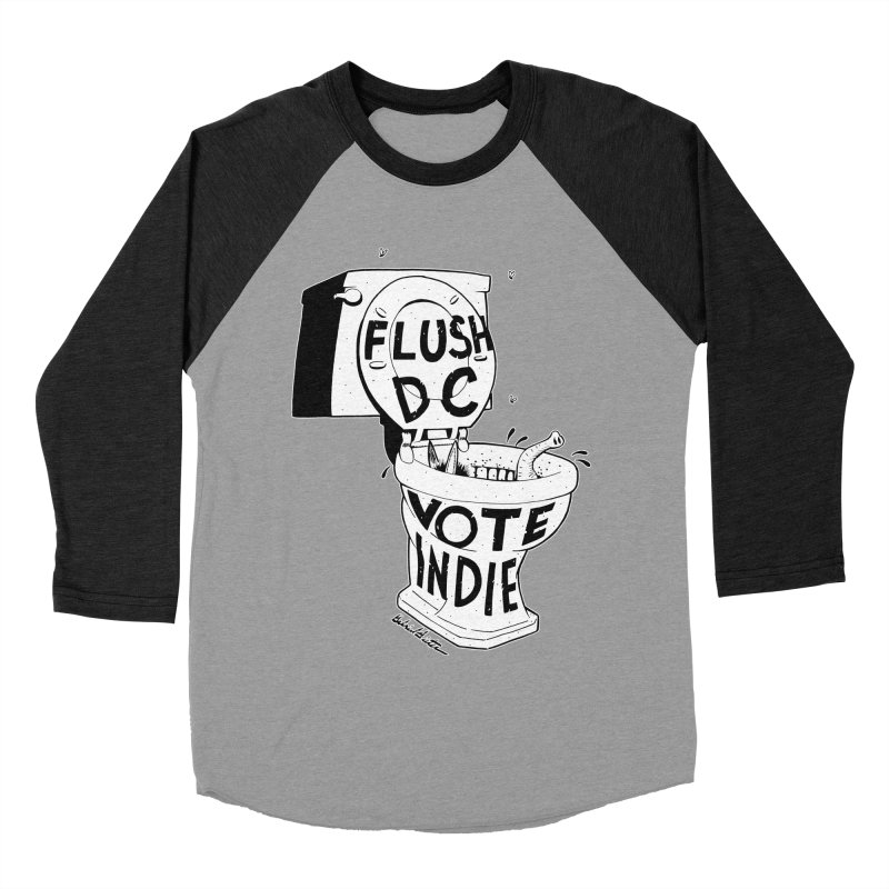 VOTE INDIE Women's Baseball Triblend Longsleeve T-Shirt by Gabriel Dieter's Artist Shop