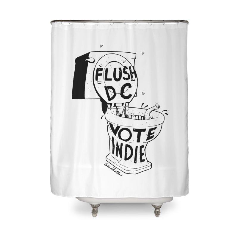 VOTE INDIE Home Shower Curtain by Gabriel Dieter's Artist Shop