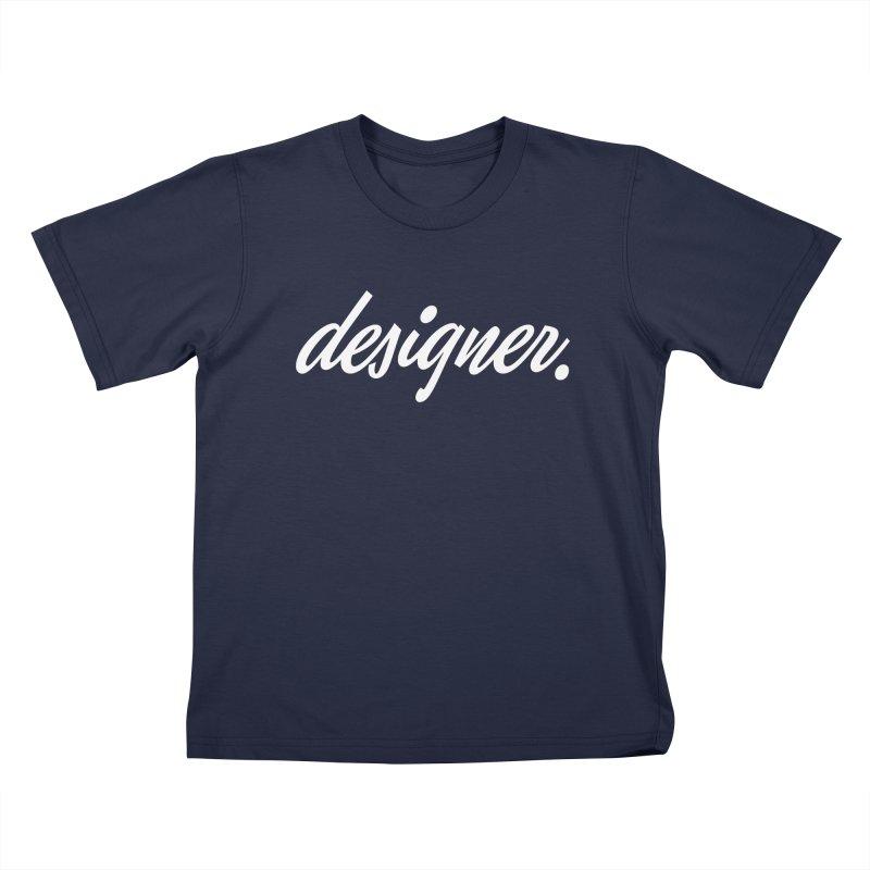 Designer (Script) Kids T-shirt by Revision Path Store
