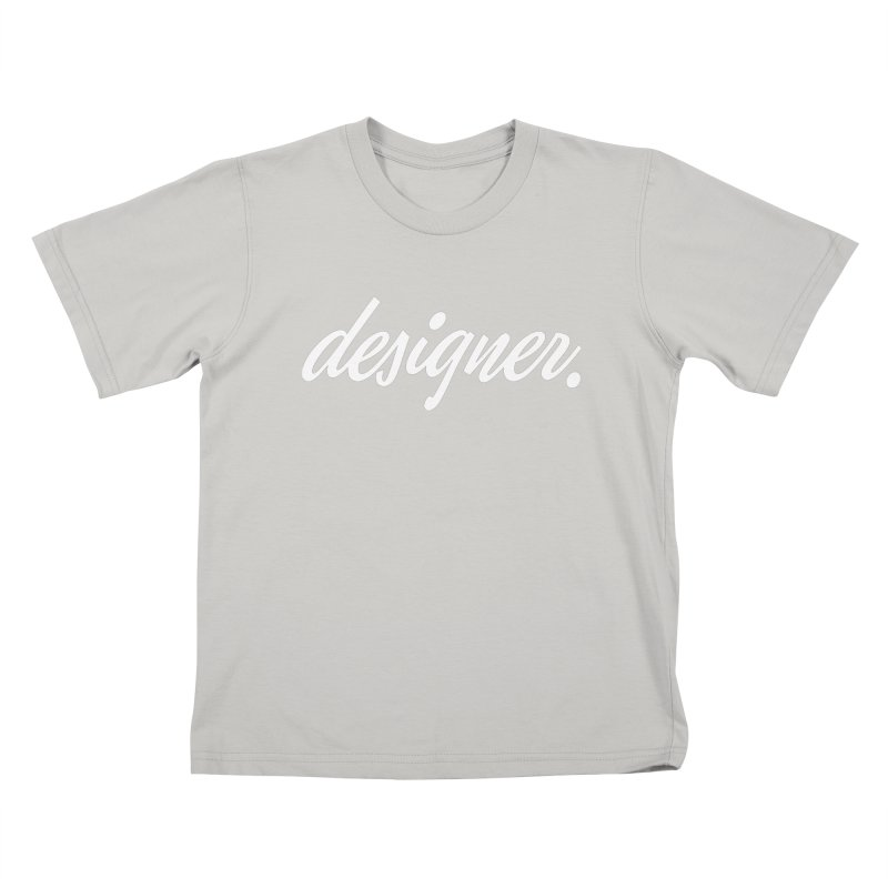 Designer (Script) Kids T-shirt by The Revision Path Store