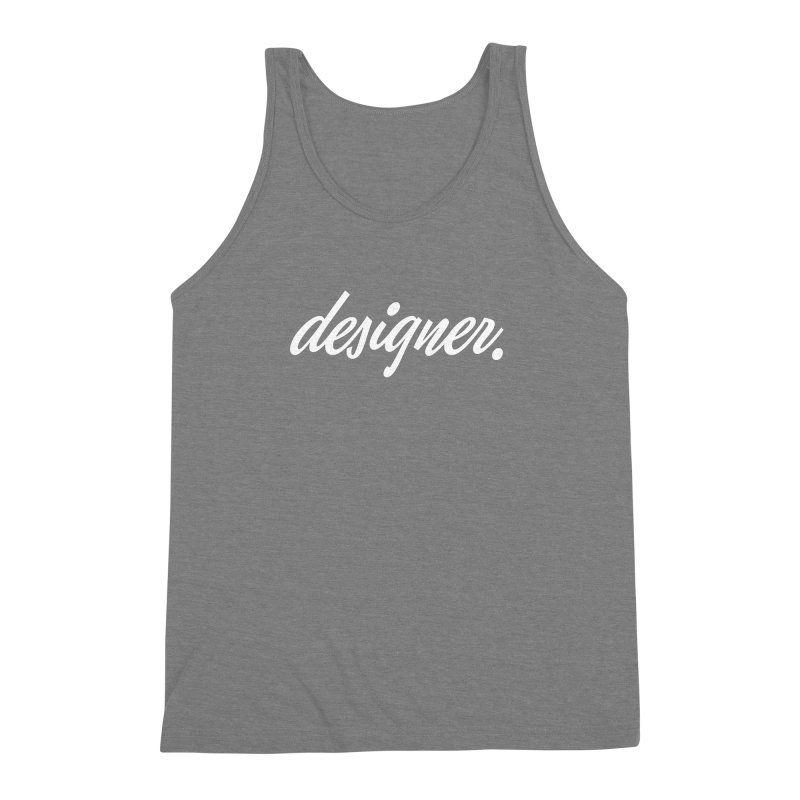 Designer (Script) Men's Triblend Tank by Revision Path Store