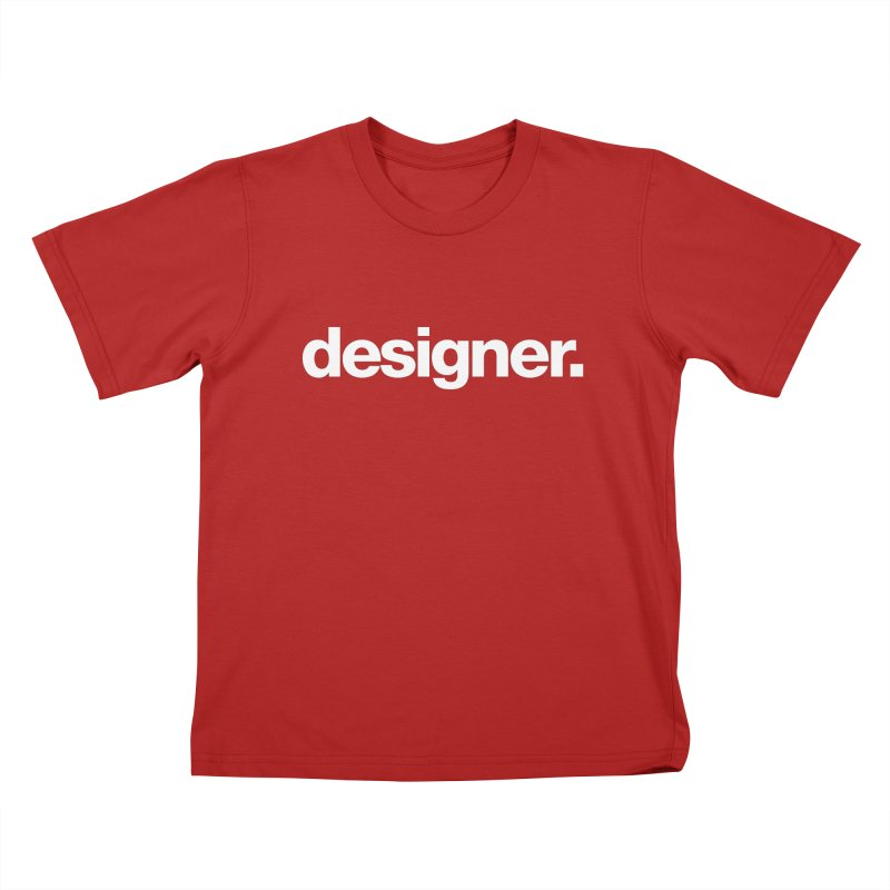 Designer (Bold) Kids T-shirt by Revision Path Store