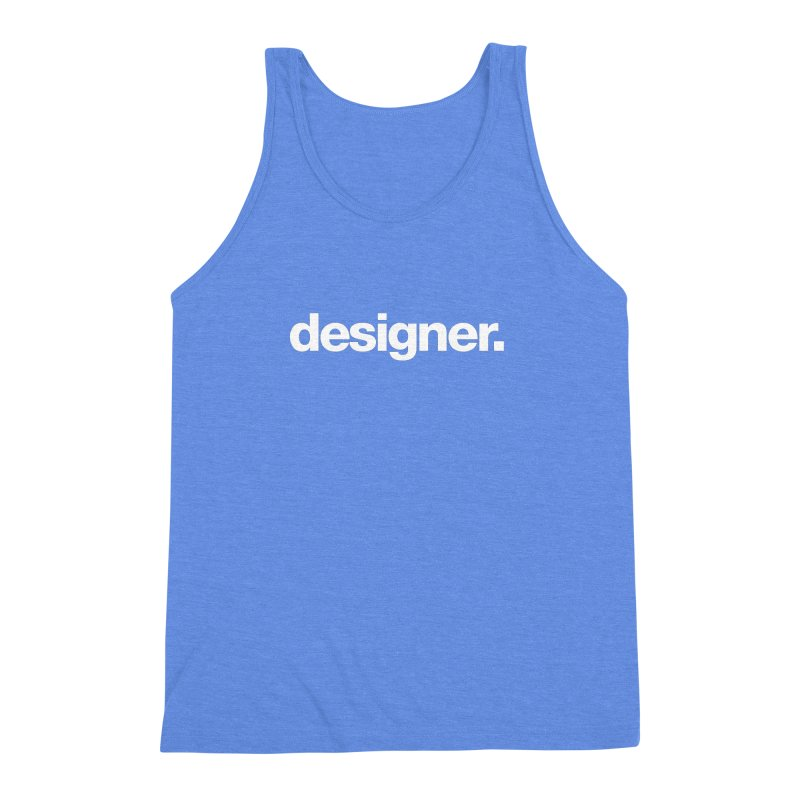 Designer (Bold) Men's Triblend Tank by Revision Path Store