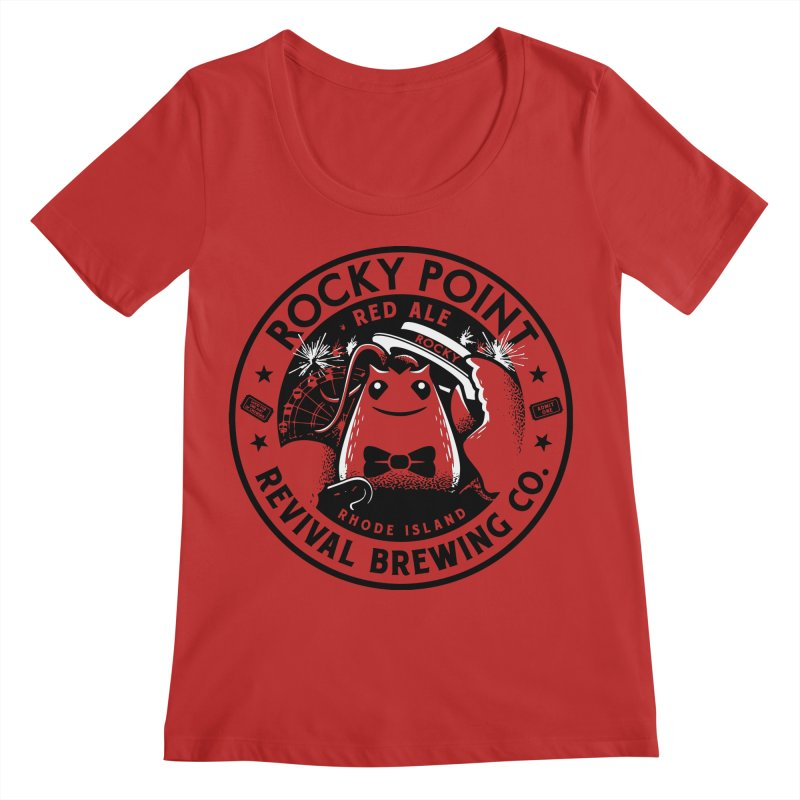 Rocky Point Red Women's Regular Scoop Neck by Revival Brewing