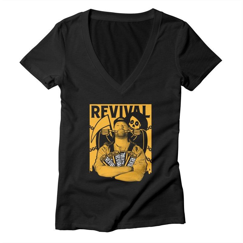 Smile Sine Women's Deep V-Neck V-Neck by Revival Brewing