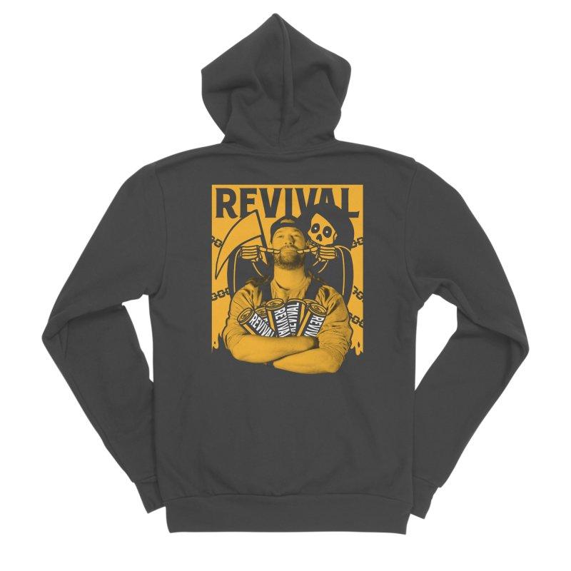 Smile Sine Men's Sponge Fleece Zip-Up Hoody by Revival Brewing