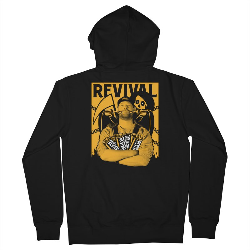 Smile Sine Men's French Terry Zip-Up Hoody by Revival Brewing