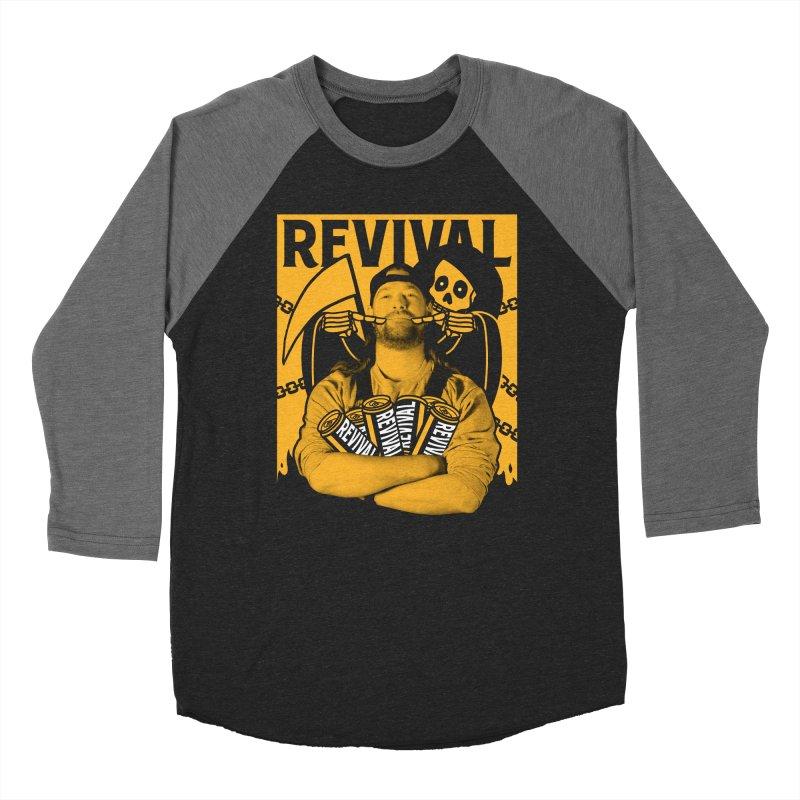 Smile Sine Men's Baseball Triblend Longsleeve T-Shirt by Revival Brewing