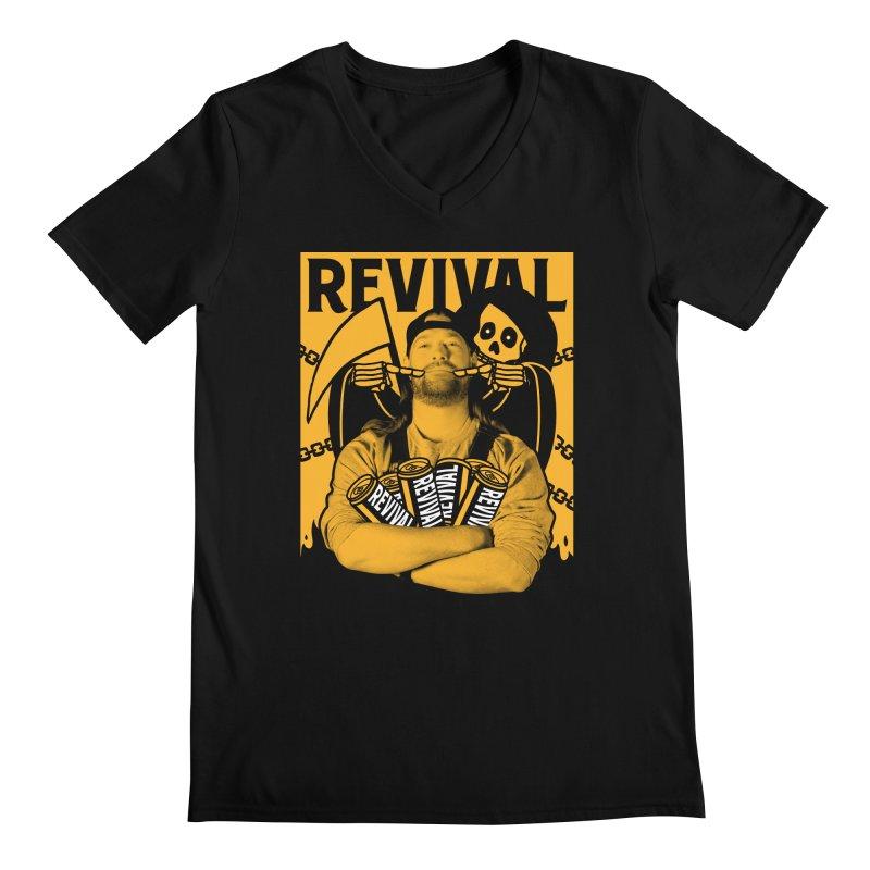 Smile Sine Men's Regular V-Neck by Revival Brewing